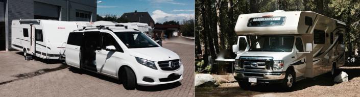 Caravan vs. Reisemobil