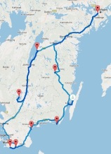 Südschweden Route