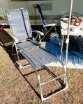 Campingstuhl mit Fußteil