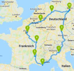 Route Fronkreisch