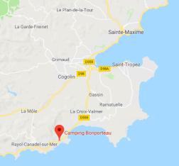 Lage Camping Bonporteau